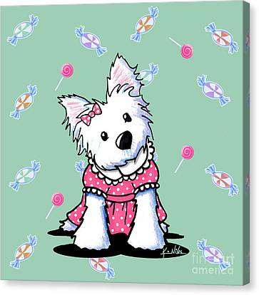 Candy Shop Cutie Canvas Print by Kim Niles