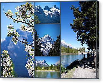 Canmore Alberta Canvas Print by Lisa Knechtel
