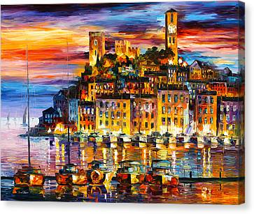 Cannes France Canvas Print by Leonid Afremov