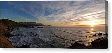 Cannon Beach Sunset Canvas Print by Mike Reid