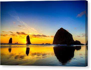 Cannon Beach Sunset Canvas Print by Peter Irwindale