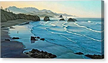 Cannon Beachcombers Canvas Print by Paul Krapf