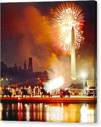Cannon Flash 1812 Overture Washington Canvas Print by Steven Barrows