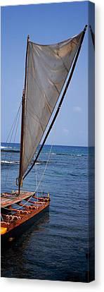 Canoe In The Sea, Honolulu, Puuhonua O Canvas Print by Panoramic Images