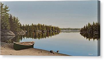 Canoe The Massassauga Canvas Print by Kenneth M  Kirsch