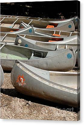 Canoes 143 Canvas Print by Gary Gingrich Galleries