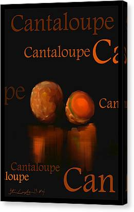 Cantaloupe - Fruit And Veggie Series - #4 Canvas Print by Steven Lebron Langston