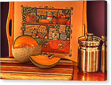 Canteloupe Canvas Print by Regina  Williams