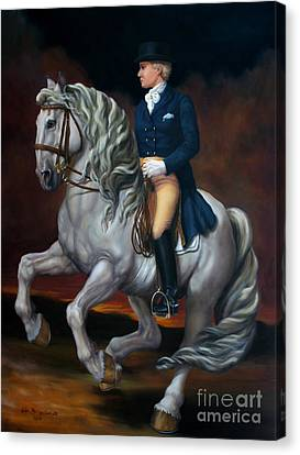 Canter Pirouette Canvas Print by Lisa Phillips Owens