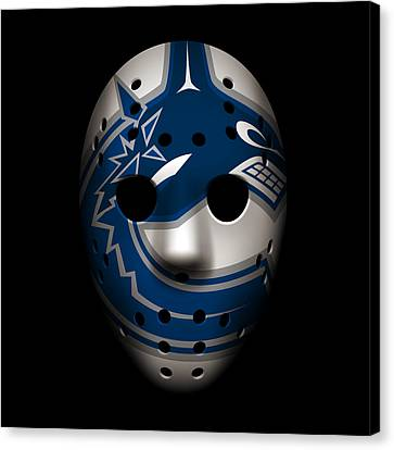 Canucks Goalie Mask Canvas Print by Joe Hamilton
