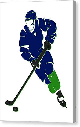 Canucks Shadow Player Canvas Print by Joe Hamilton