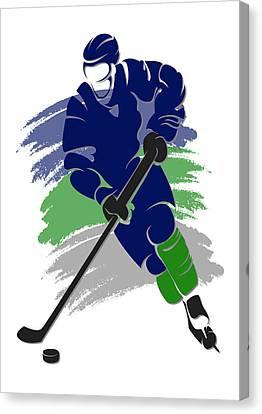 Canucks Shadow Player2 Canvas Print by Joe Hamilton