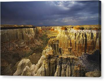 Canyon Of Color Canvas Print by Peter Coskun