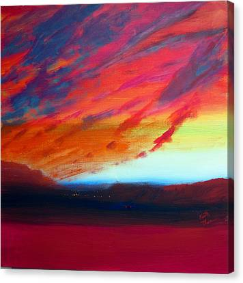 Canyon Sunset Canvas Print by Keith Thue