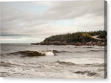 Cape Briton Waves Canvas Print by Mary Louise Loyd