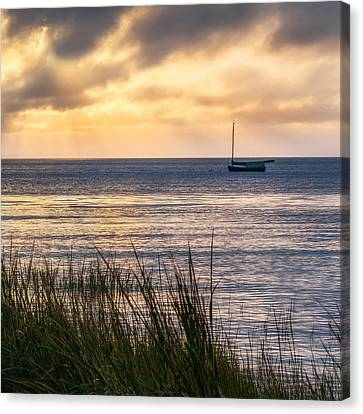 Cape Cod Bay Square Canvas Print by Bill Wakeley