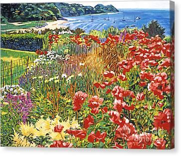 Cape Cod Ocean Garden Canvas Print by David Lloyd Glover