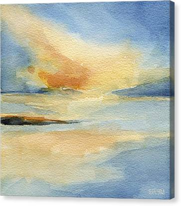 Cape Cod Sunset Seascape Painting Canvas Print by Beverly Brown Prints