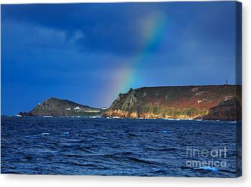 Cape Cornwall Canvas Print by Louise Heusinkveld