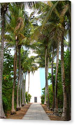 Cape Florida Walkway Canvas Print by Carey Chen