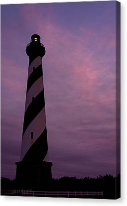 Cape Hatteras Lighthouse At Dusk Canvas Print by Jim Baker