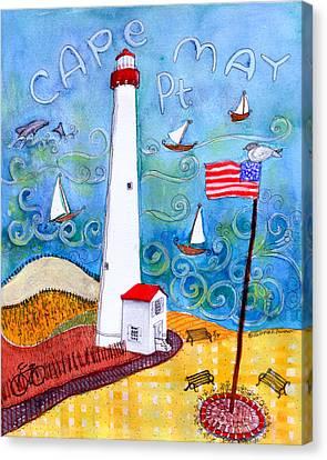 Cape May Point Lighthouse Canvas Print by Deborah Burow