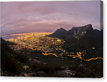 Cape Town Nights Canvas Print by Aaron S Bedell