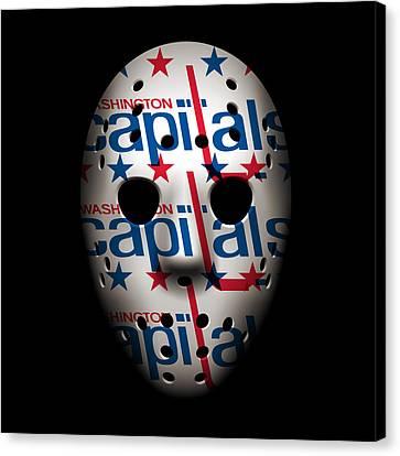Capitals Goalie Mask Canvas Print by Joe Hamilton