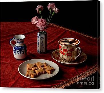 Cappuccino Coffee Canvas Print by Donald Davis