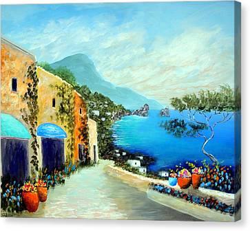 Capri Fantasies Canvas Print by Larry Cirigliano