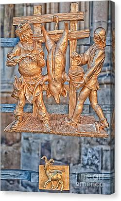Capricorn Zodiac Sign - St Vitus Cathedral - Prague Canvas Print by Ian Monk