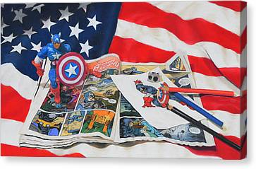 Captain America Canvas Print by Joanne Grant