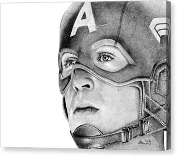 Captain America Canvas Print by Kayleigh Semeniuk