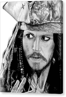 Captain Jack Sparrow Canvas Print by Kayleigh Semeniuk