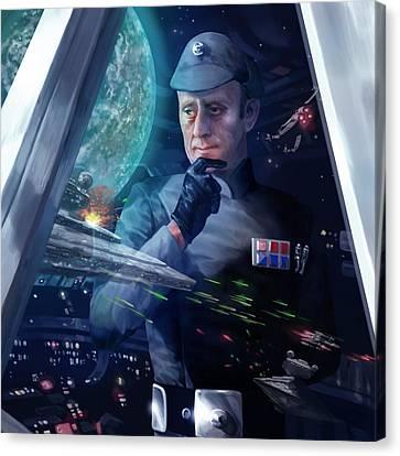 Captain Piett Canvas Print by Ryan Barger