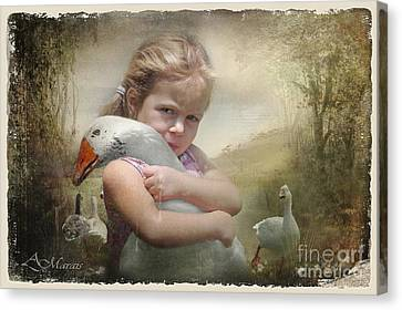 Captured Memories-not The Perfect World Canvas Print by Adelita Rog