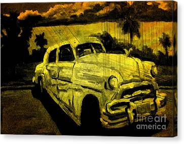 Car Grunge Canvas Print by John Malone