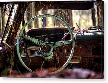 Car In The Woods Canvas Print by Greg Mimbs