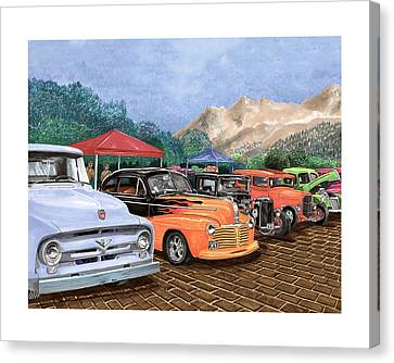 Silver City Car Show And Shine Canvas Print by Jack Pumphrey
