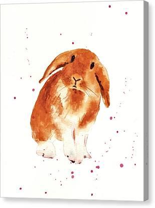 Caramel Cuddles Bunny Canvas Print by Alison Fennell