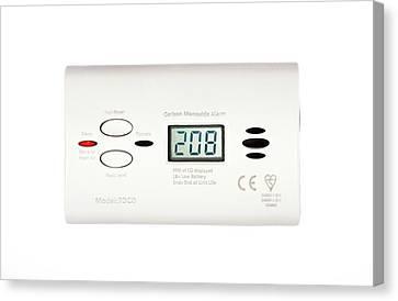 Carbon Monoxide Alarm Canvas Print by Cordelia Molloy