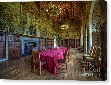 Cardiff Castle Dining Hall Canvas Print by Yhun Suarez