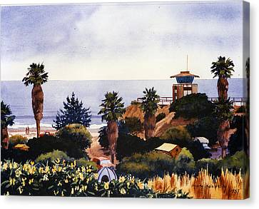 Cardiff State Beach Canvas Print by Mary Helmreich