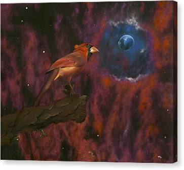 Cardinal Of Cassiopeia Canvas Print by Eric Allen