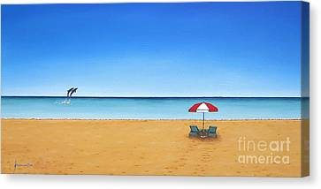 The Perfect Beach Canvas Print by Jerome Stumphauzer