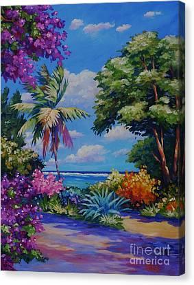 Caribbean Colours Canvas Print by John Clark