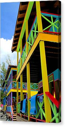 Caribbean Porches Canvas Print by Randall Weidner