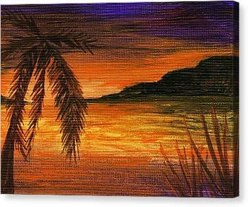 Caribbean Sunset Canvas Print by Anastasiya Malakhova
