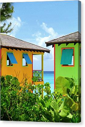 Caribbean Village Canvas Print by Randall Weidner