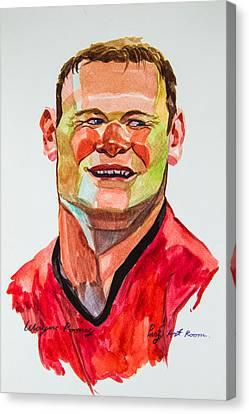 Caricature Wayne Rooney Canvas Print by Ubon Shinghasin